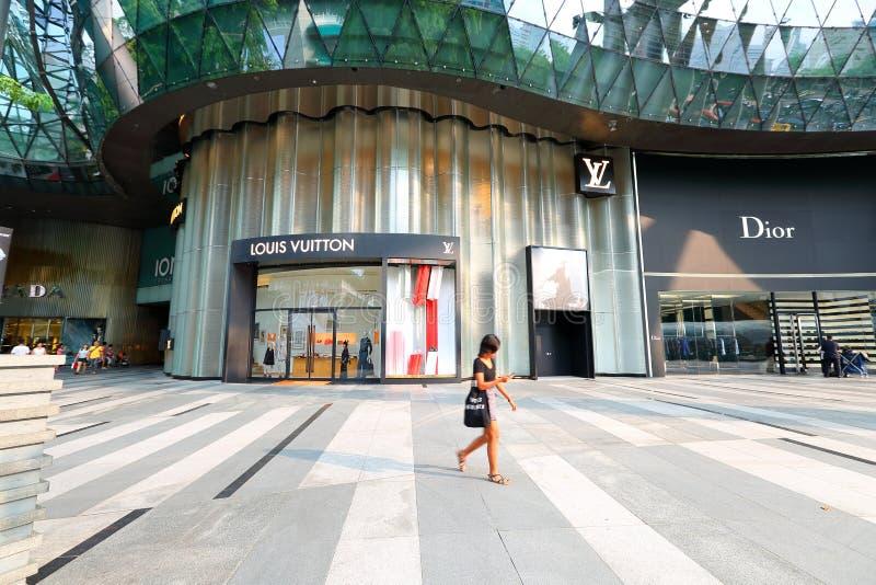 Tienda de Singapur LV en el ion de la huerta fotos de archivo libres de regalías