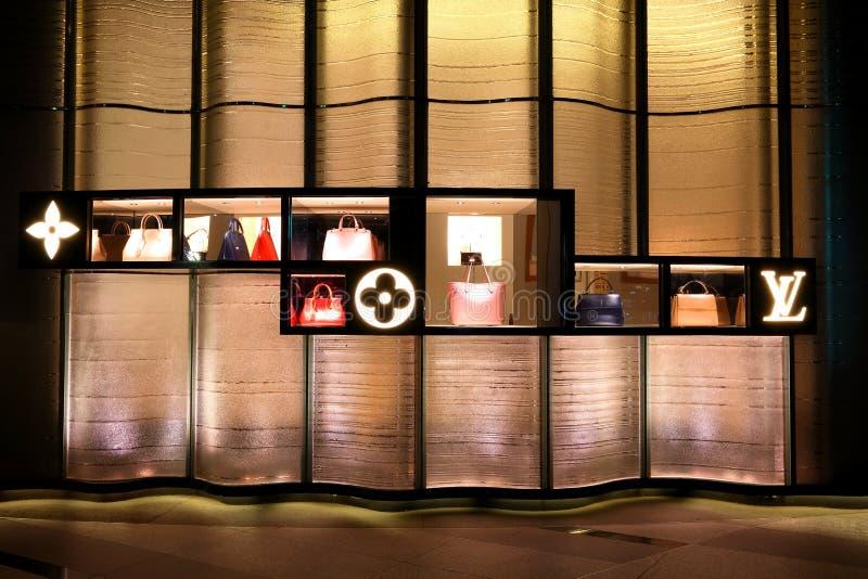 Tienda de Singapur LV en el ion de la huerta imagen de archivo libre de regalías