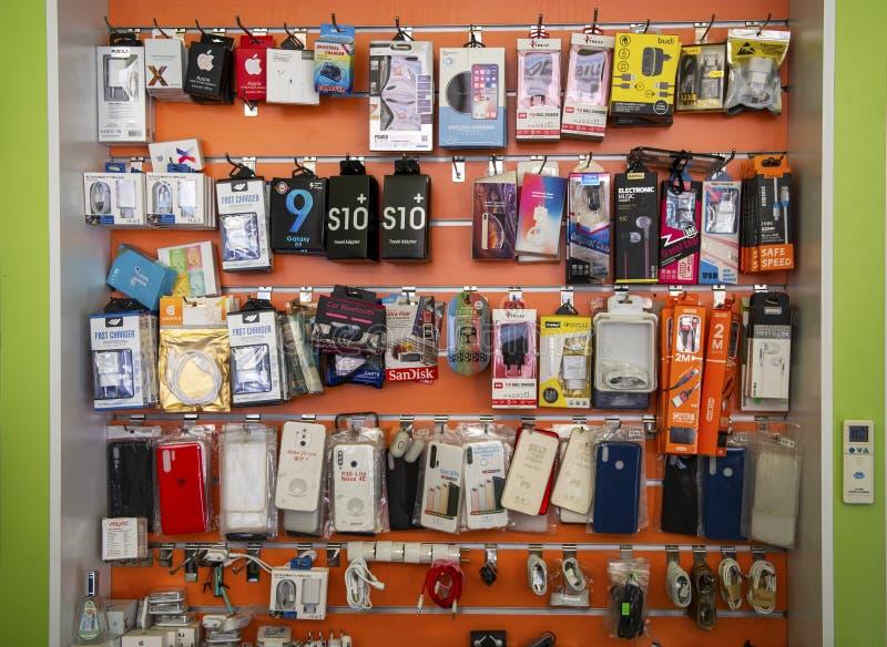 Tienda de smartphones fotos de archivo