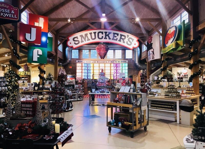 Tienda de Smucker's foto de archivo