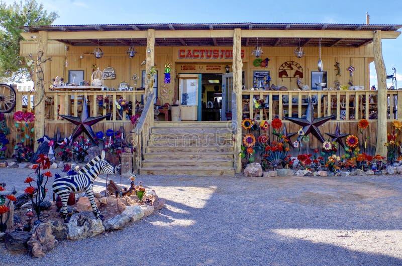 Tienda de souvenirs del ` s de Joe del cactus, Nevada los E.E.U.U. imagen de archivo