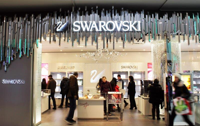 Tienda de Swarovski foto de archivo