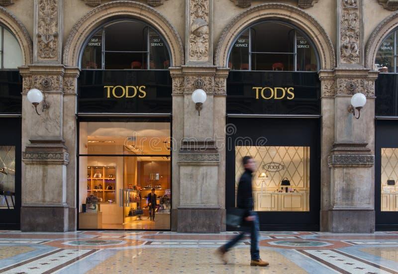 Tienda de Tod's fotografía de archivo