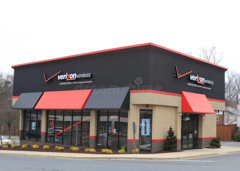 Tienda de Verizon Wireless foto de archivo libre de regalías
