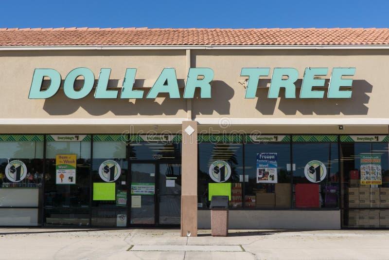 Tienda del árbol del dólar fotos de archivo