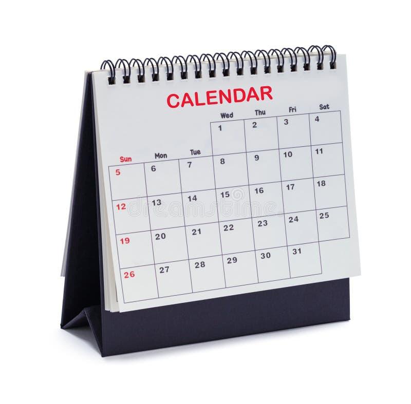 Tienda del calendario foto de archivo