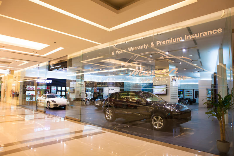 Tienda del centro de Porsche del sima de Tailandia imagenes de archivo