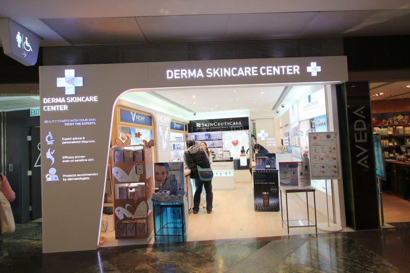 Tienda del centro del skincare de Derma en Hong-Kong fotos de archivo