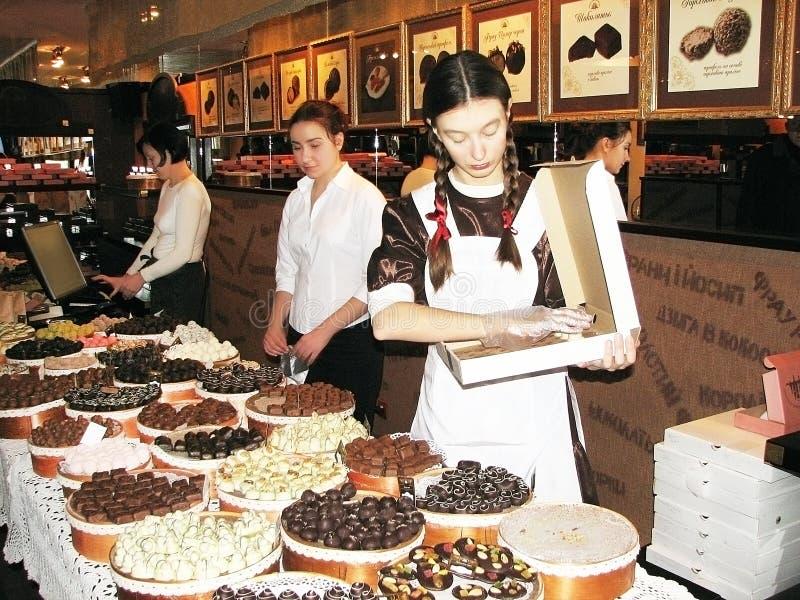 Tienda del chocolate foto de archivo libre de regalías