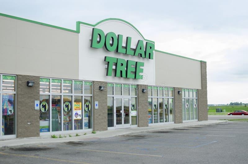 Tienda del dólar en Estados Unidos foto de archivo libre de regalías