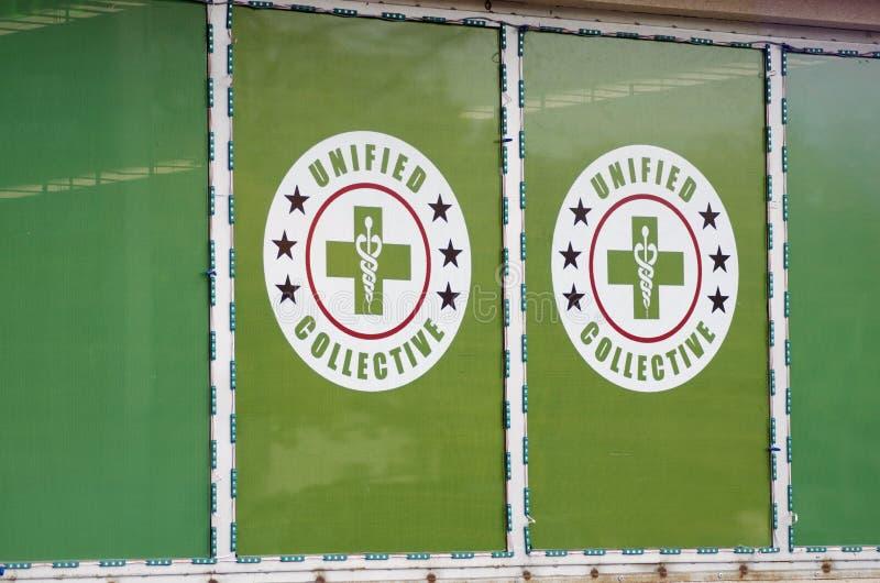 Tienda del dispensario de la marijuana fotografía de archivo libre de regalías