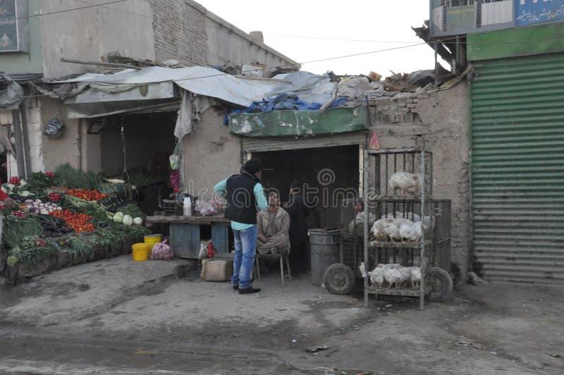 Tienda del pollo en Kabul, Afganistán fotografía de archivo