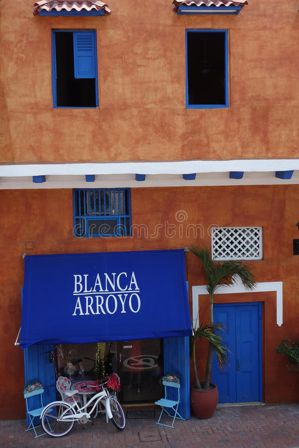 Tienda del vintage en Cartagena foto de archivo