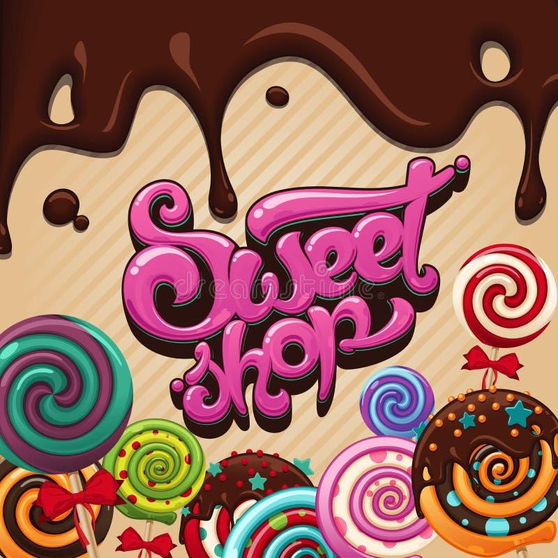 Tienda dulce del logotipo libre illustration