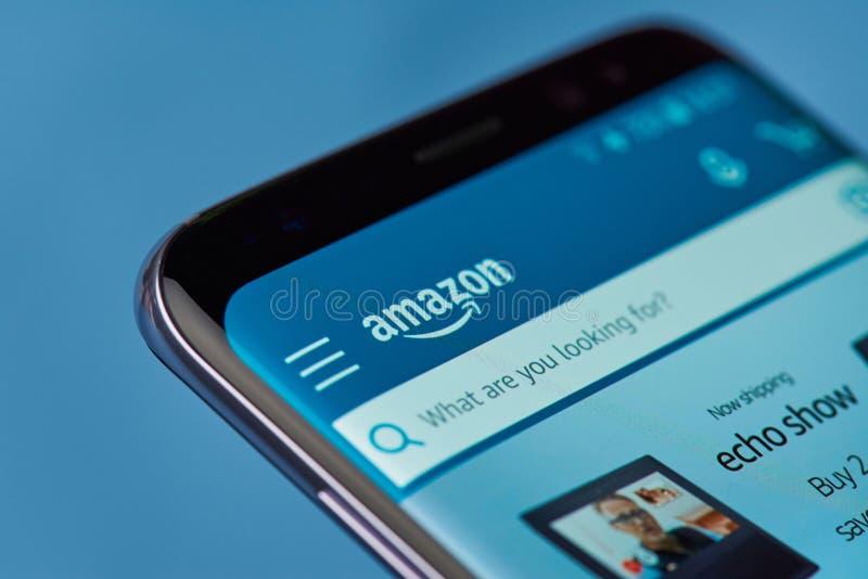 Tienda en línea del Amazonas imagen de archivo libre de regalías
