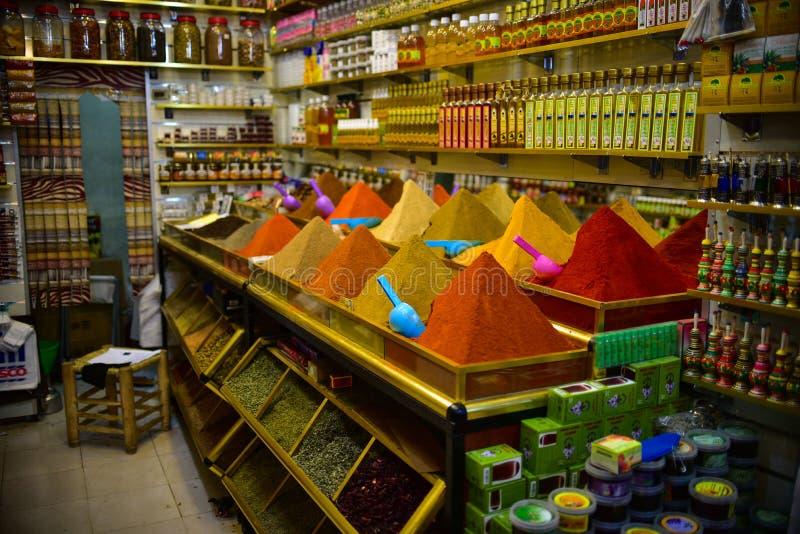 Tienda en Marrakesh, Marruecos fotografía de archivo libre de regalías