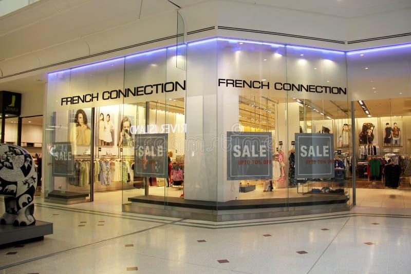 Tienda francesa de la conexión foto de archivo libre de regalías
