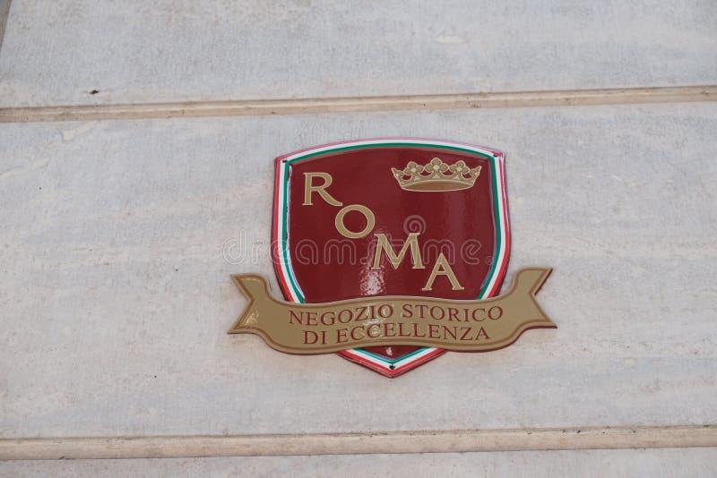 Tienda histórica de la excelencia en Roma fotografía de archivo libre de regalías