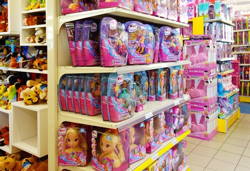 Tienda interior de los juguetes de los niños fotos de archivo libres de regalías