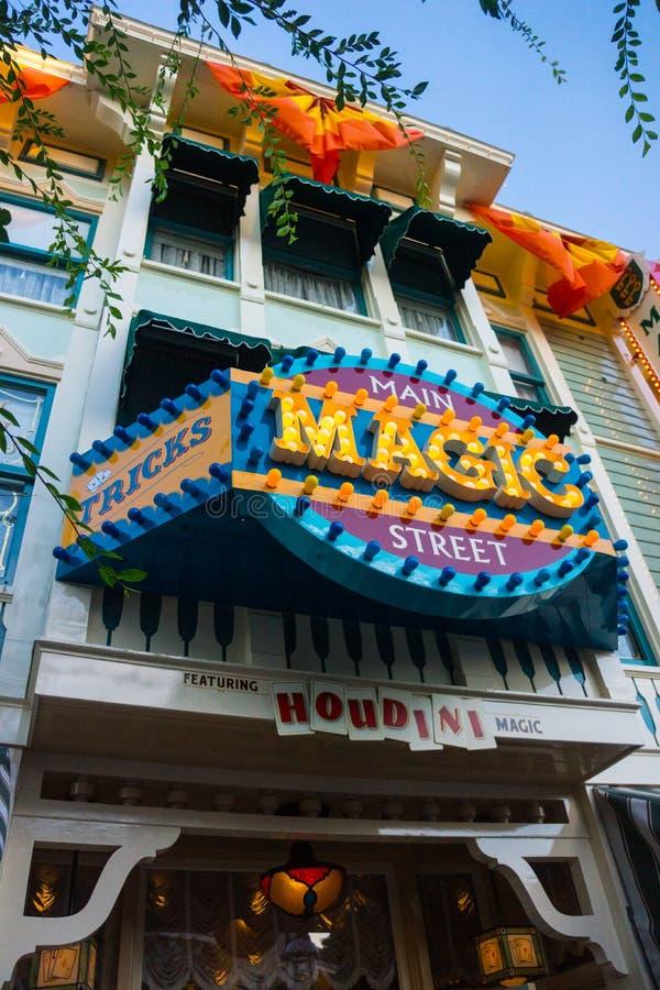 Tienda mágica Disneyland Anaheim de Main Street foto de archivo libre de regalías