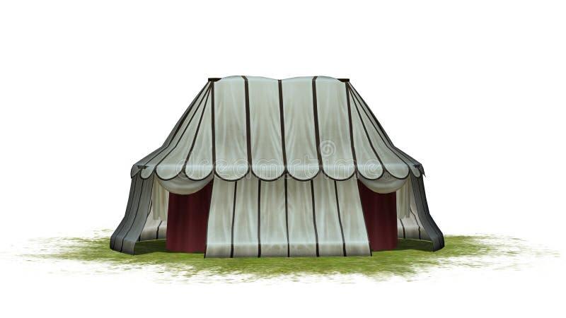 Tienda medieval en un área de la hierba libre illustration
