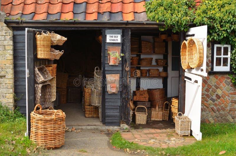 Tienda Orford de la cesta fotos de archivo