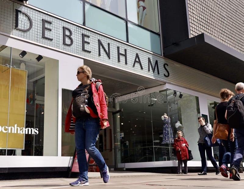 Tienda principal de Debenhams en la calle de Oxford, Londres foto de archivo libre de regalías