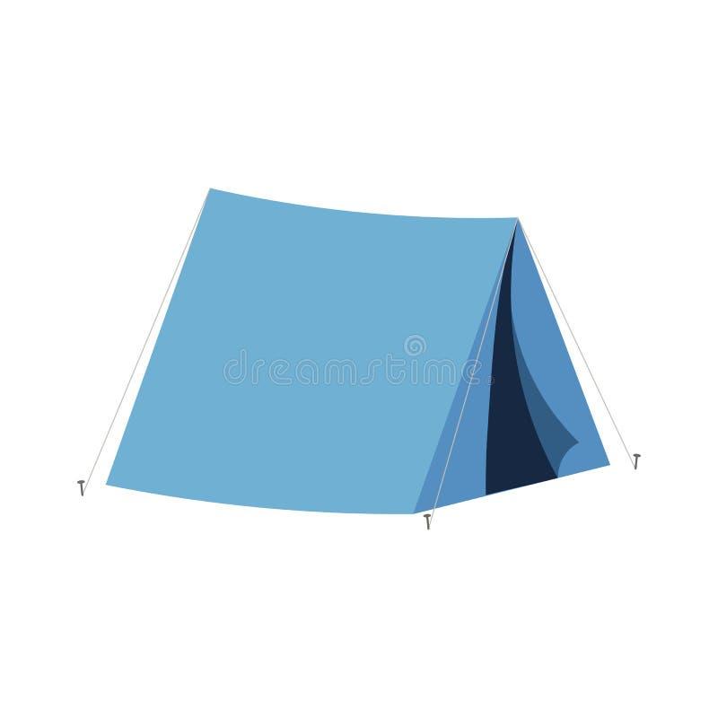 Tienda que acampa en viaje al aire libre Ejemplo del vector para el turismo de la naturaleza, viaje, aventura ilustración del vector