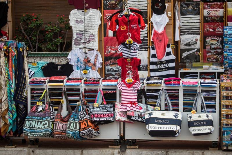 Tienda turística en Mónaco fotos de archivo