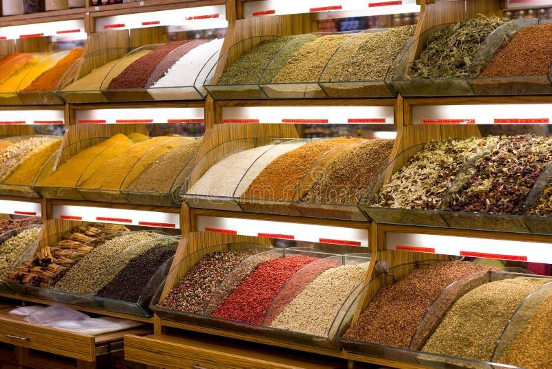 Tienda turca de la especia fotografía de archivo libre de regalías