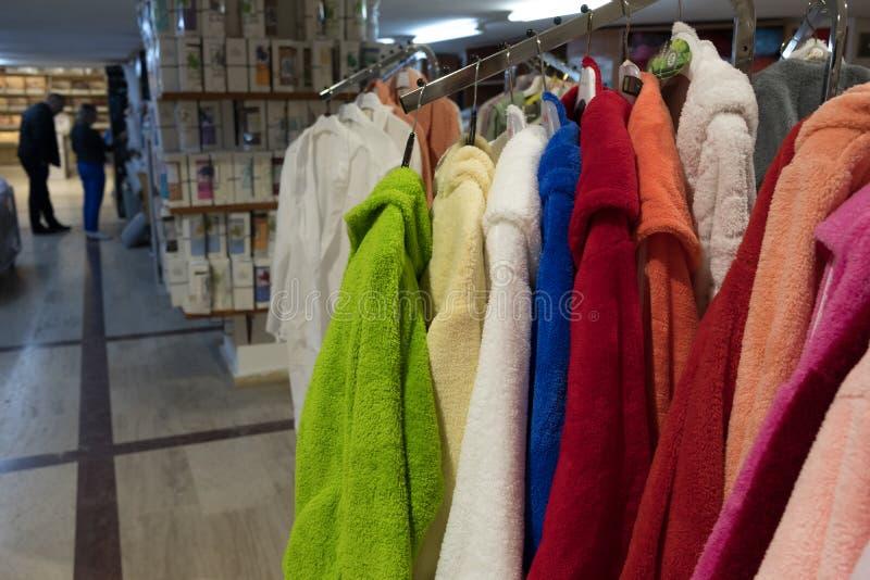 Tienda turca del algodón fotos de archivo