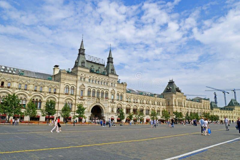 Tienda universal del estado de la GOMA en cuadrado rojo Moscú, Rusia imágenes de archivo libres de regalías