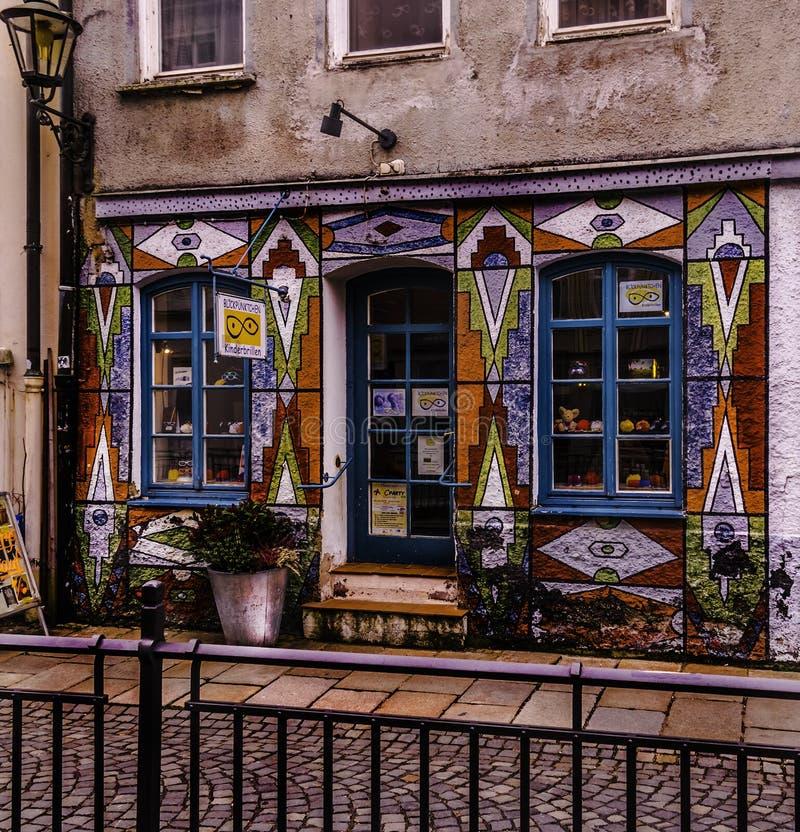 Tienda urbana de los vidrios en Augsburg foto de archivo libre de regalías