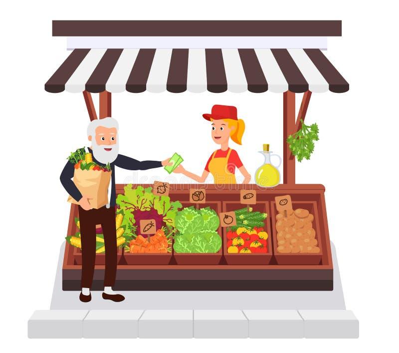 Tienda vegetal Concepto de libre illustration
