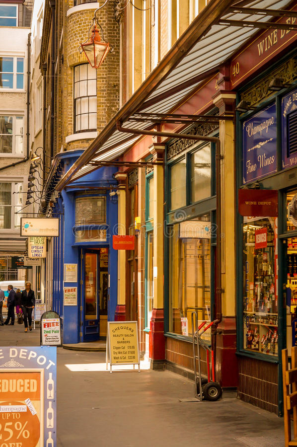 Tiendas de Londres imagenes de archivo