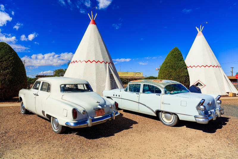 Tiendas de los indios norteamericanos del motel de la tienda india fotografía de archivo libre de regalías