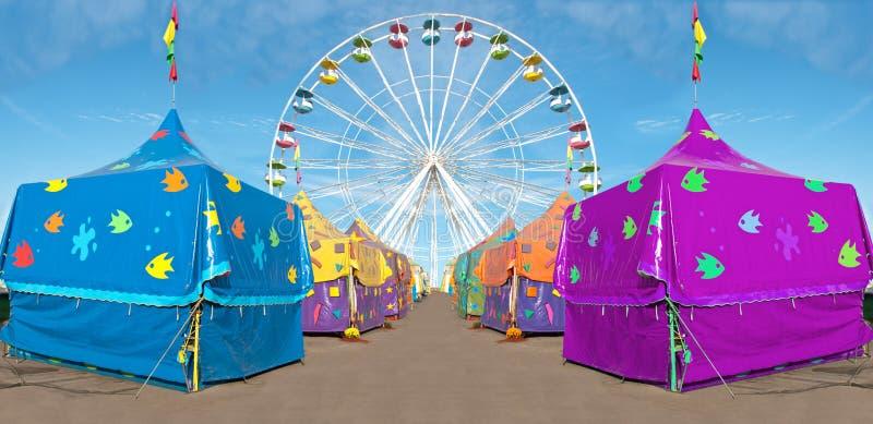 Tiendas del carnaval fotos de archivo