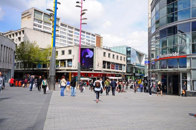 Tiendas del centro de ciudad, Birmingham imagenes de archivo