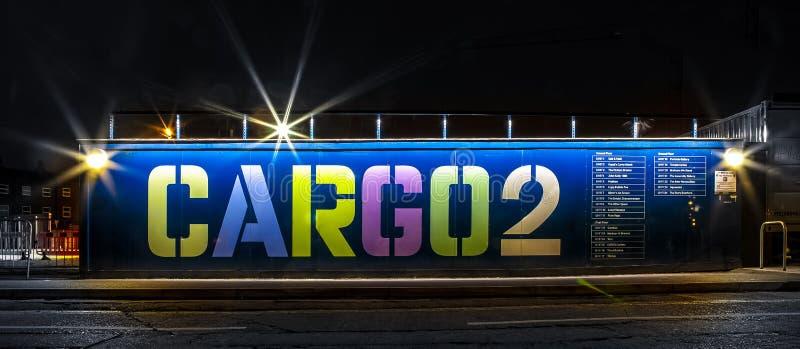 Tiendas del envase CARGO2 en Bristol fotografía de archivo libre de regalías