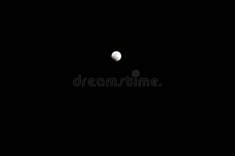 Tiene usted visto el proceso entero del eclipse lunar fotografía de archivo