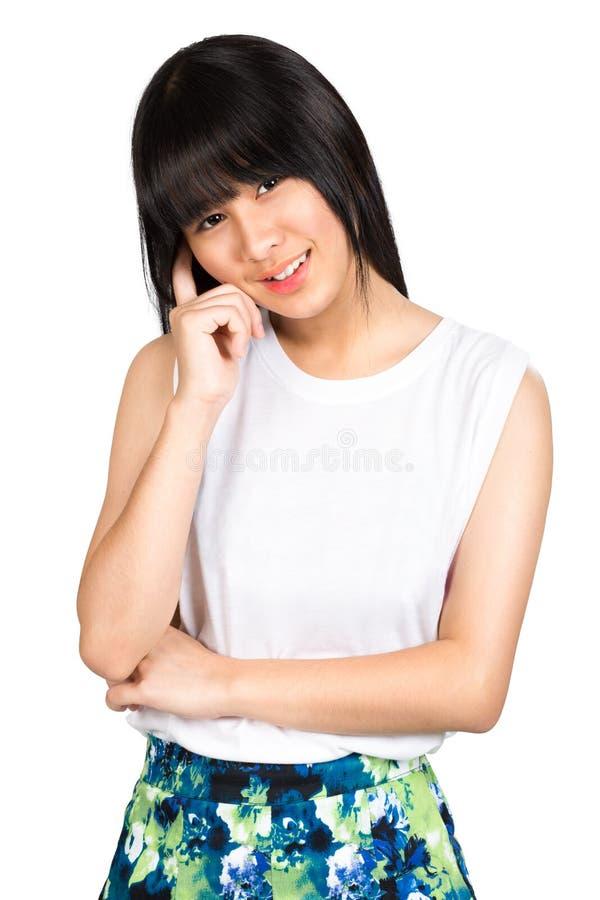 Tiener Aziatisch meisje royalty-vrije stock afbeeldingen