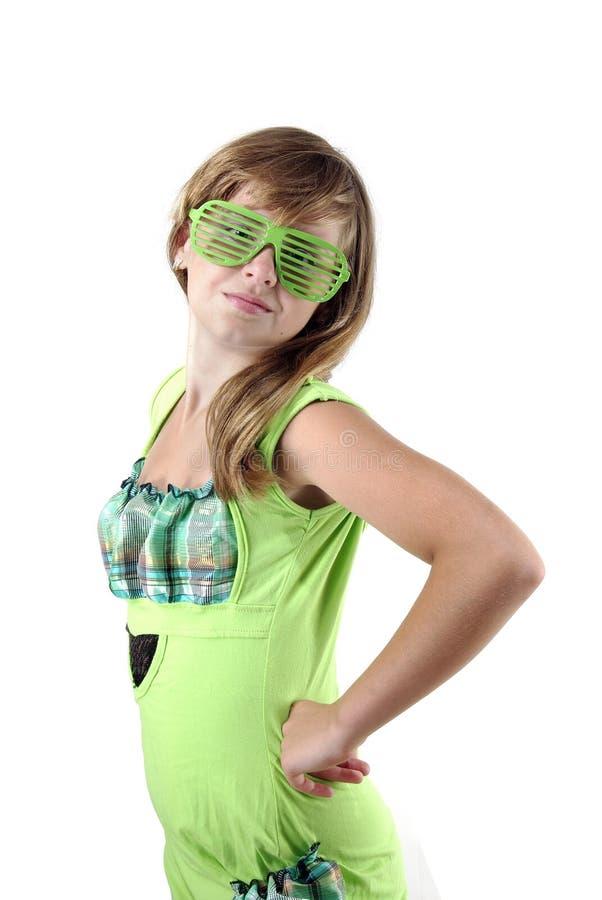 tiener in blindschaduwen stock foto's