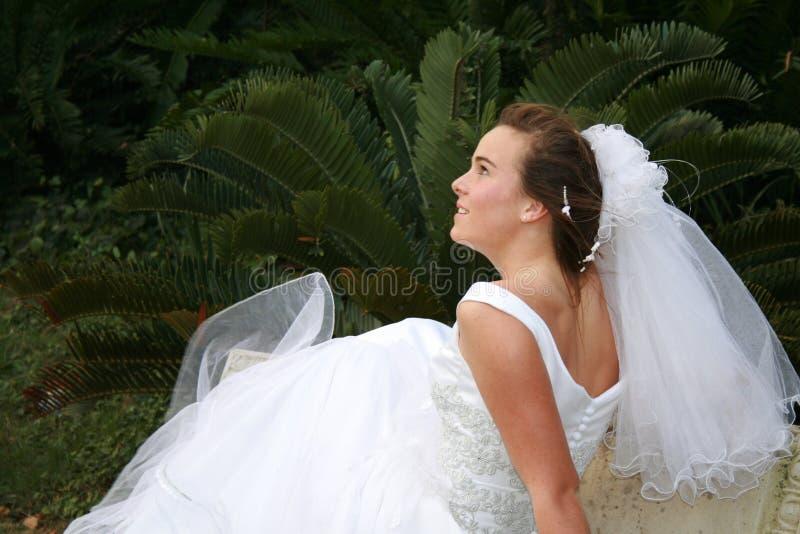 tiener bruid   royalty-vrije stock foto's