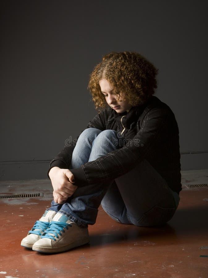 Tiener Depressie stock afbeeldingen
