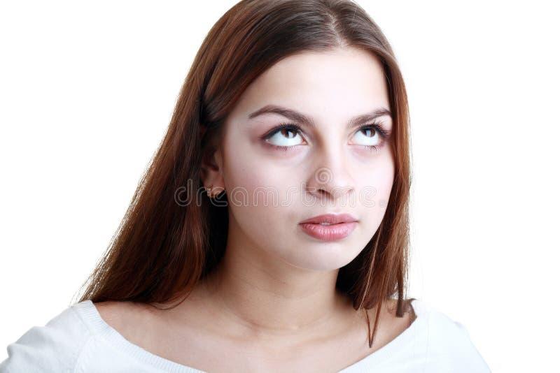 Tiener die haar ogen rollen royalty-vrije stock foto
