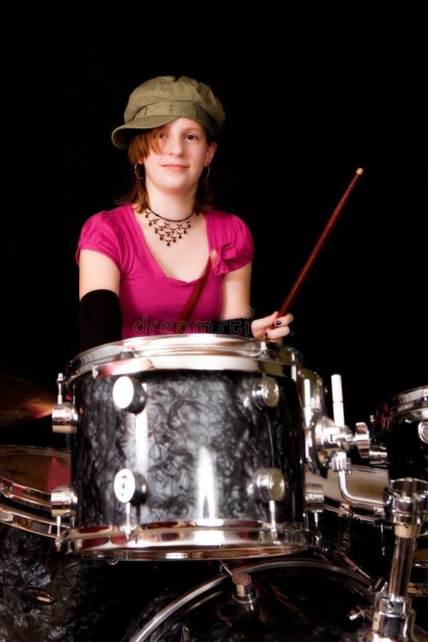 Tiener Drumer royalty-vrije stock foto's