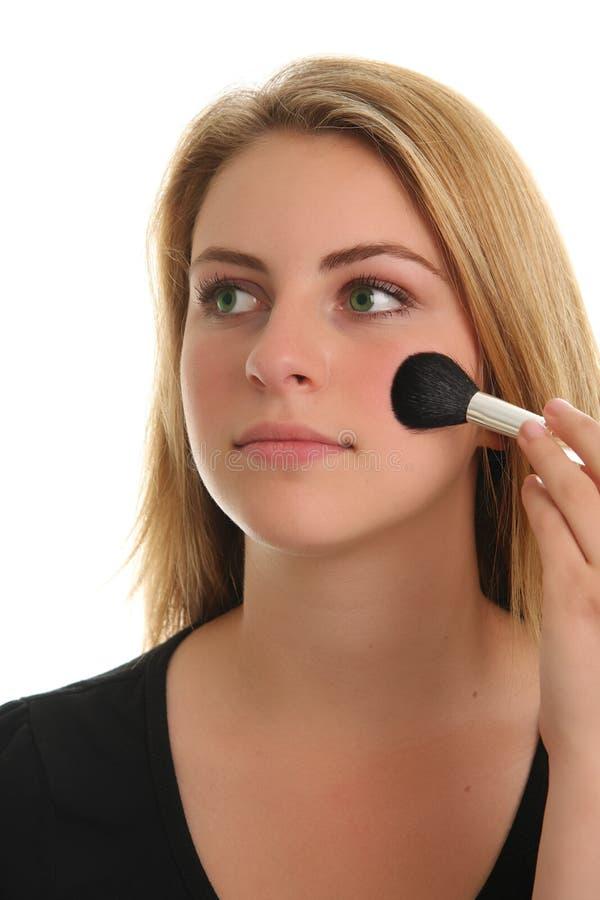 Tiener en make-up stock foto's