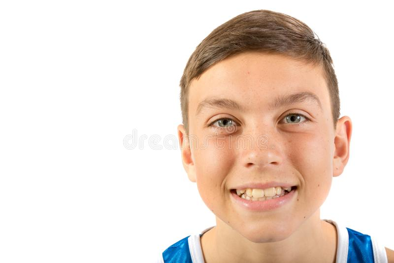 Tiener headshot royalty-vrije stock afbeeldingen