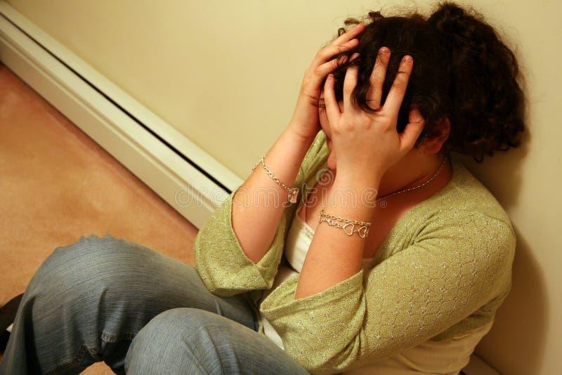 Tiener met Depressie royalty-vrije stock afbeeldingen