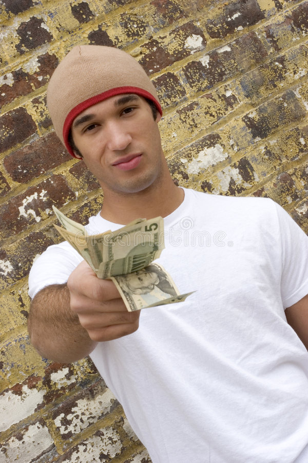 Tiener met Geld royalty-vrije stock fotografie